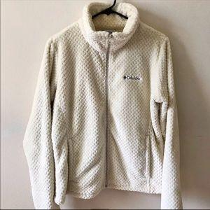 Columbia Cream Full Zip Sweatshirt